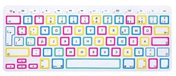 HRH White Big Font Spanish Keyboard Cover Silicone Skin for