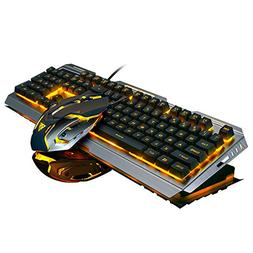 LAFEINA Wired Backlit Gaming Keyboard and Mouse Set for PC L
