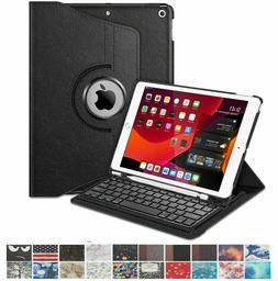 """Wireless Keyboard Case For Apple iPad 7th Gen 10.2"""" 2019 360"""