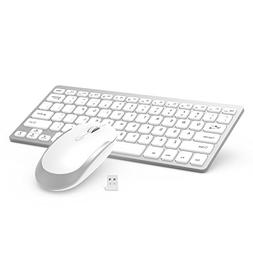Wireless Keyboard Mouse, Jelly Comb 2.4GHz Ultra Thin Compac