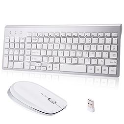 Wireless Keyboard and Mouse Combo,Ultra Slim with Mute Whisp