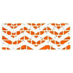 Allytech Zig - Zag Series Orange and White Silicone Keyboard